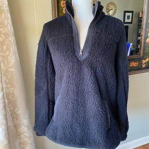 Abercrombie & Fitch Black Sherpa Pullover